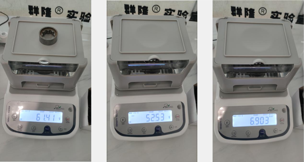 粉末冶金生胚密度仪测试报告